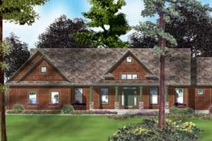 Country Exterior - Front Elevation Plan #49-126