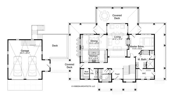 Traditional Floor Plan - Main Floor Plan Plan #928-262