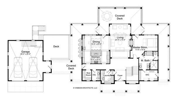 Traditional Floor Plan - Main Floor Plan #928-262