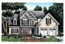 Colonial Exterior - Front Elevation Plan #927-896