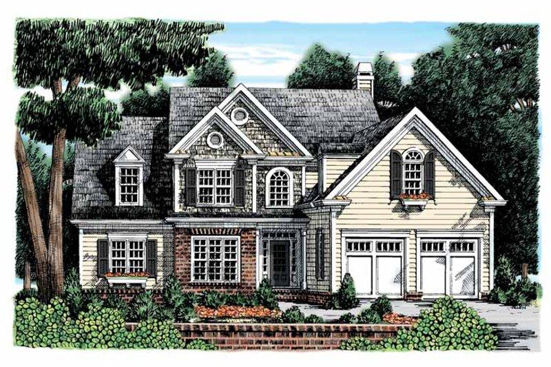 Colonial Exterior - Front Elevation Plan #927-896 - Houseplans.com