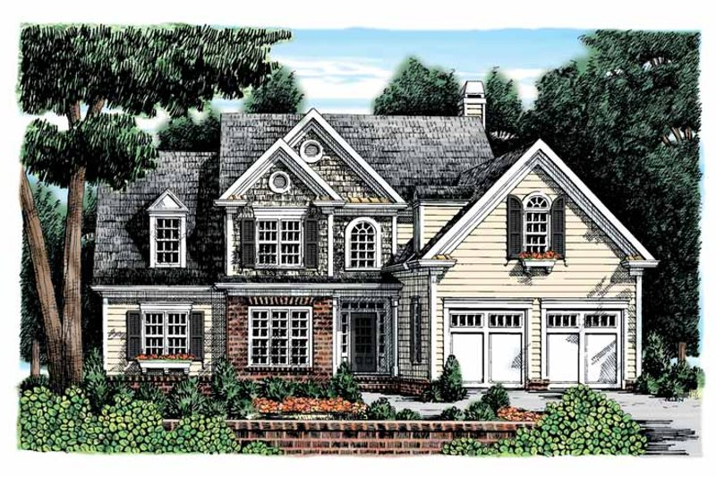 Home Plan - Colonial Exterior - Front Elevation Plan #927-896