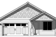 Ranch Style House Plan - 3 Beds 2 Baths 1258 Sq/Ft Plan #943-46 Exterior - Front Elevation