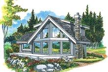 House Blueprint - Cabin Exterior - Front Elevation Plan #47-881