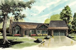 Home Plan - Country Exterior - Front Elevation Plan #942-29