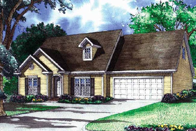 Traditional Exterior - Front Elevation Plan #17-3260 - Houseplans.com