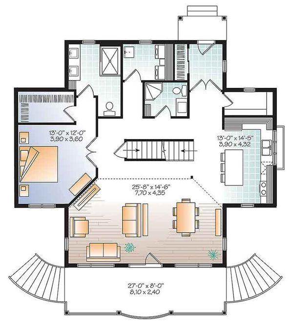 Dream House Plan - Traditional Floor Plan - Main Floor Plan #23-2609