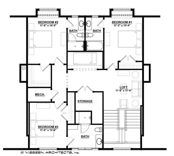 Country Floor Plan - Upper Floor Plan Plan #928-284