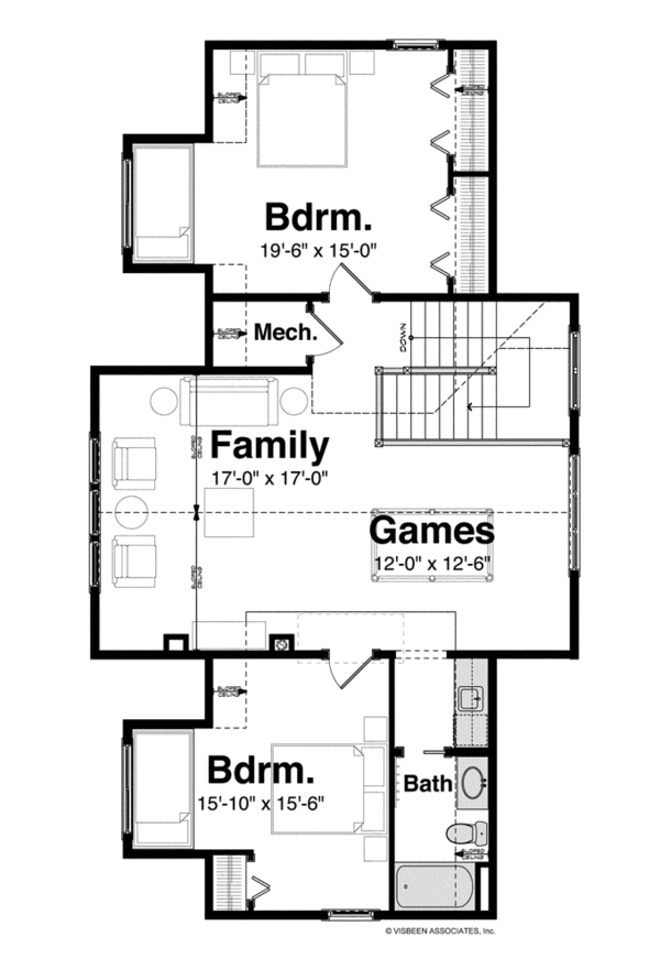 Craftsman Floor Plan - Upper Floor Plan Plan #928-254