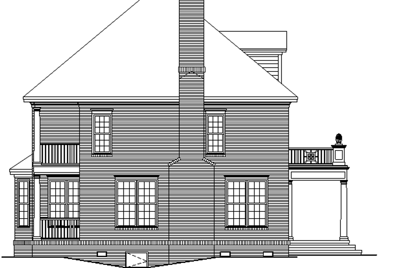 Classical Exterior - Other Elevation Plan #929-626 - Houseplans.com