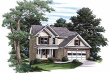 Country Exterior - Front Elevation Plan #927-332