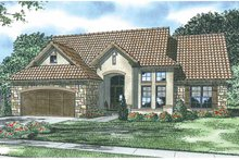 Home Plan - Mediterranean Exterior - Front Elevation Plan #17-2925