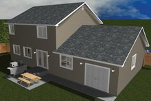 House Plan Design - Traditional Exterior - Rear Elevation Plan #1060-33