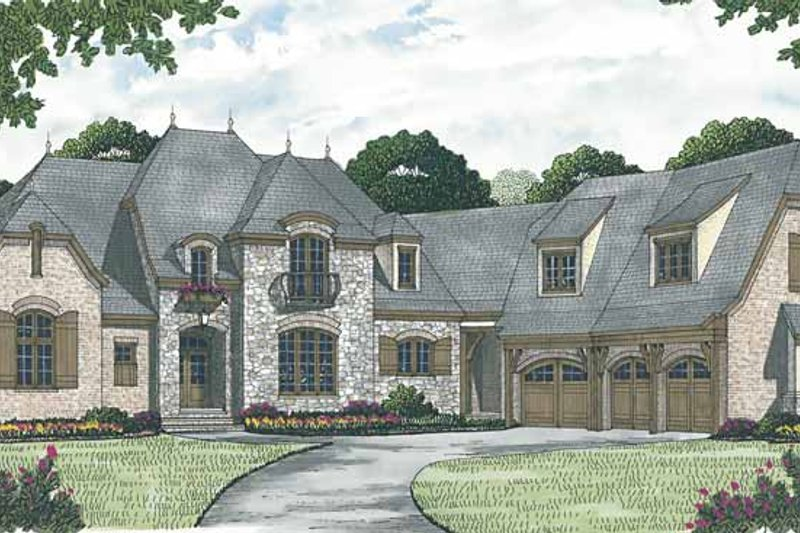 Dream House Plan - European Exterior - Front Elevation Plan #453-599