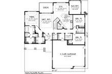 Craftsman Floor Plan - Main Floor Plan Plan #70-1087
