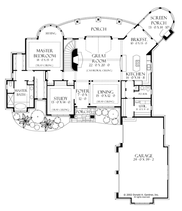 European Floor Plan - Main Floor Plan Plan #929-929