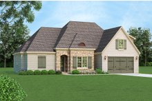 House Plan Design - European Exterior - Front Elevation Plan #932-30