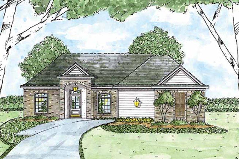 House Plan Design - European Exterior - Front Elevation Plan #36-554