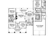 Country Style House Plan - 3 Beds 2 Baths 1816 Sq/Ft Plan #21-429