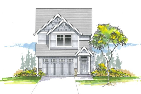 Craftsman Exterior - Front Elevation Plan #53-656