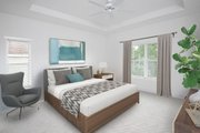 Beach Style House Plan - 3 Beds 2.5 Baths 1830 Sq/Ft Plan #938-108 Interior - Master Bedroom