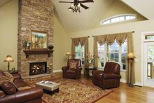 Architectural House Design - Ranch Interior - Family Room Plan #929-601
