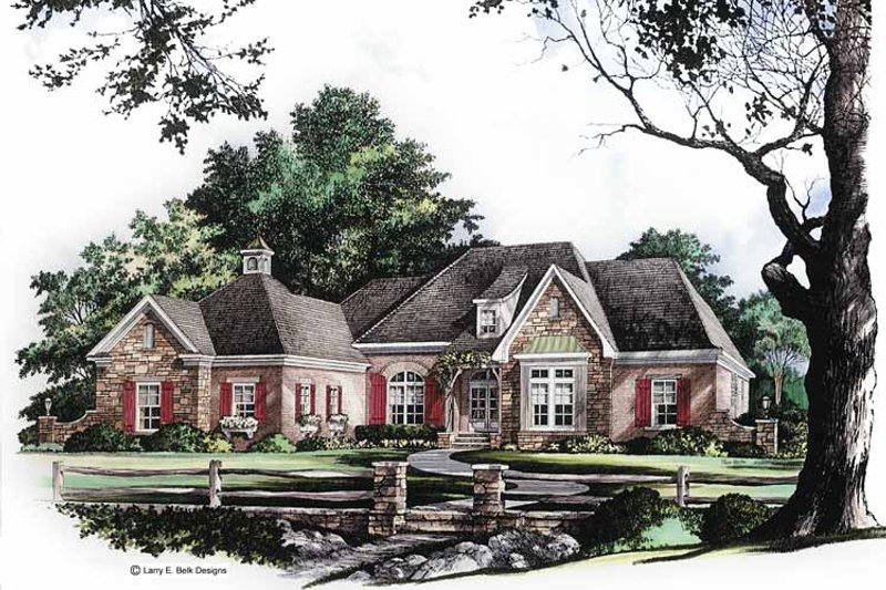 Country Exterior - Front Elevation Plan #952-260