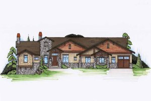 Architectural House Design - Craftsman Exterior - Front Elevation Plan #945-113