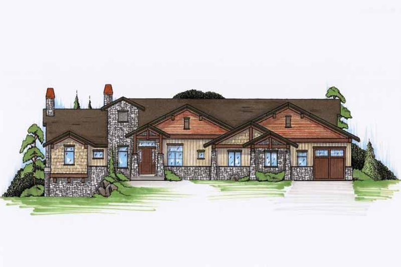Craftsman Exterior - Front Elevation Plan #945-113