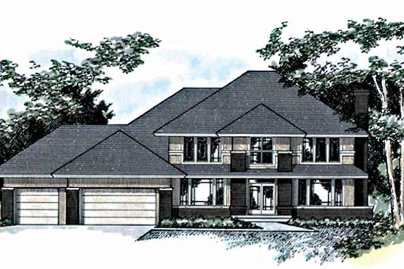Dream House Plan - Traditional Exterior - Front Elevation Plan #51-774