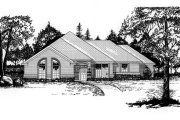 Traditional Style House Plan - 4 Beds 2 Baths 1725 Sq/Ft Plan #62-104