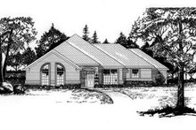 Architectural House Design - Traditional Exterior - Front Elevation Plan #62-104