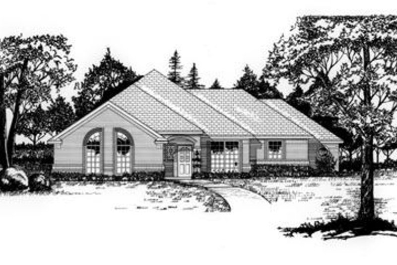 Traditional Exterior - Front Elevation Plan #62-104 - Houseplans.com