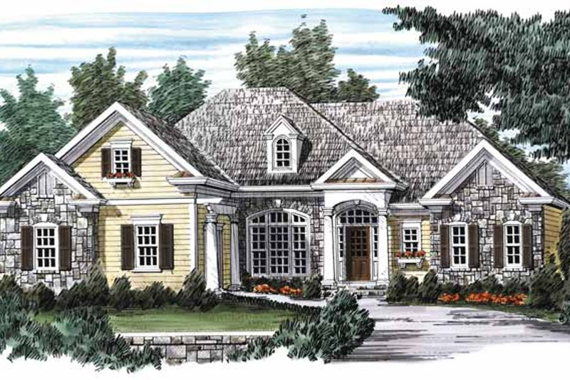 Country Exterior - Front Elevation Plan #927-553