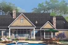 European Exterior - Rear Elevation Plan #929-958