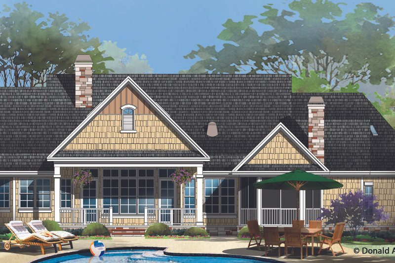 European Exterior - Rear Elevation Plan #929-958 - Houseplans.com