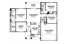 Mediterranean Floor Plan - Main Floor Plan Plan #1058-92