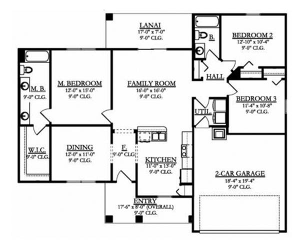 House Plan Design - Mediterranean Floor Plan - Main Floor Plan #1058-92