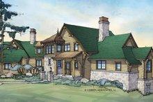 Log Exterior - Front Elevation Plan #928-258