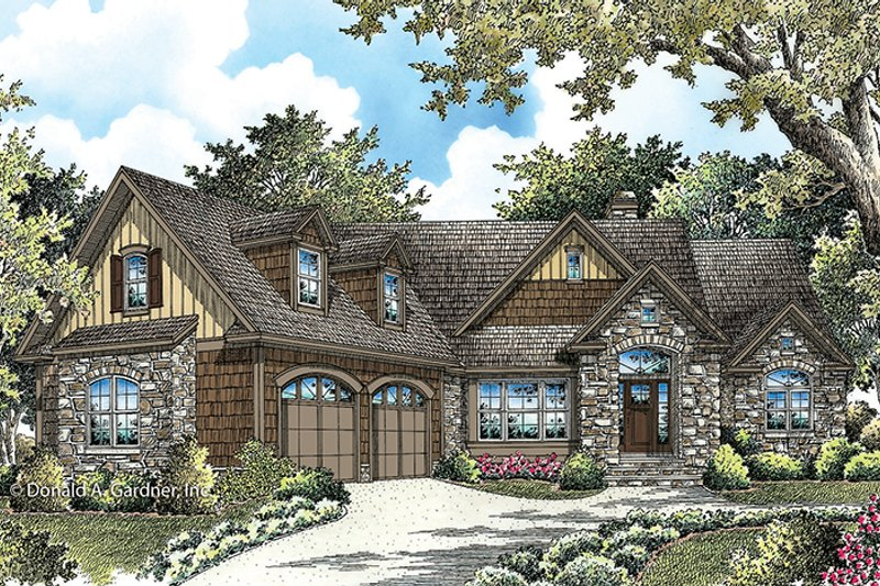 Cottage Exterior - Front Elevation Plan #929-992 - Houseplans.com