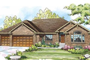 Country Exterior - Front Elevation Plan #124-835