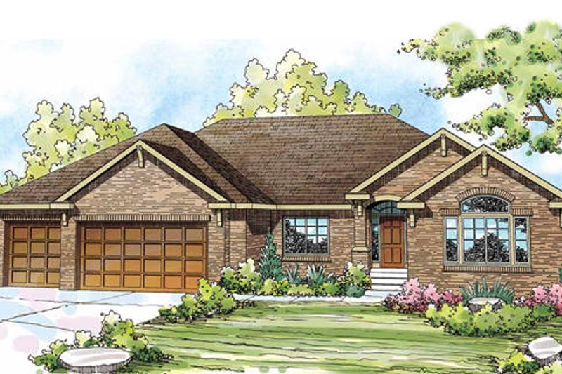 Country Exterior - Front Elevation Plan #124-835 - Houseplans.com