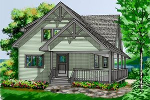 Exterior - Front Elevation Plan #118-108