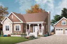 Cottage Exterior - Front Elevation Plan #23-635
