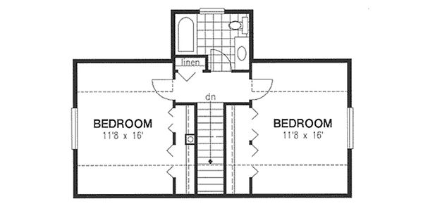 Cottage Floor Plan - Upper Floor Plan Plan #18-287
