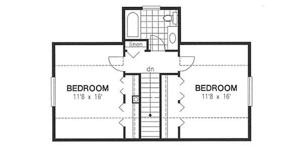 House Blueprint - Cottage Floor Plan - Upper Floor Plan #18-287