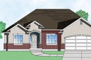Ranch Exterior - Front Elevation Plan #5-114