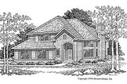 Traditional Style House Plan - 3 Beds 2.5 Baths 1850 Sq/Ft Plan #70-221 Exterior - Front Elevation