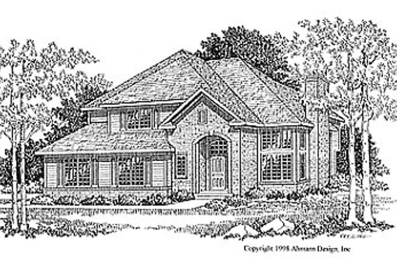Traditional Exterior - Front Elevation Plan #70-221 - Houseplans.com