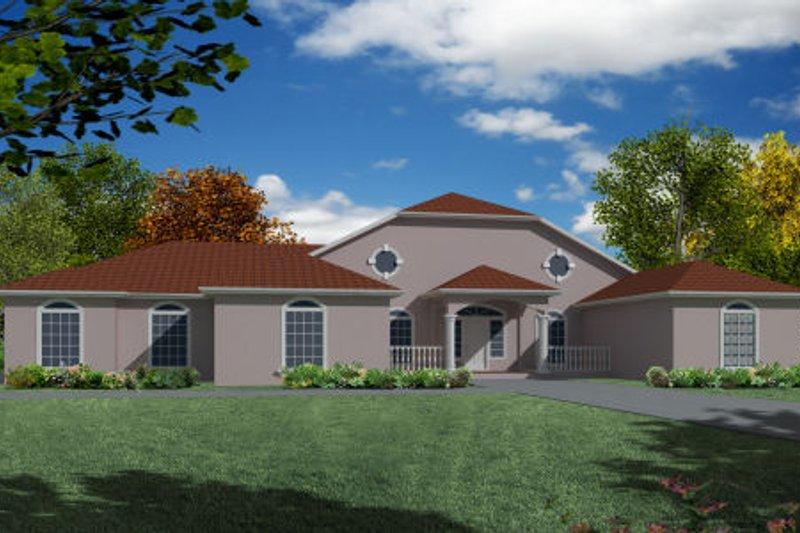 Modern Exterior - Front Elevation Plan #437-25